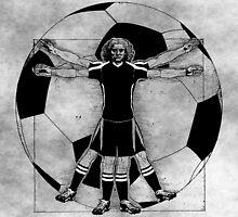 Vitruvian Soccer Player (B&W Tones) by KAMonkey