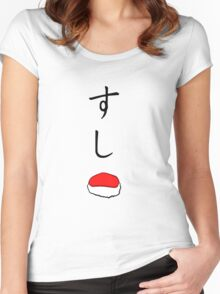 sushi shirt (blood lad) Women's Fitted Scoop T-Shirt