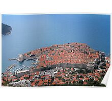 Dubrovnik, city of red roofs Poster