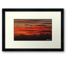 """ A Cornish Sunset"" Framed Print"