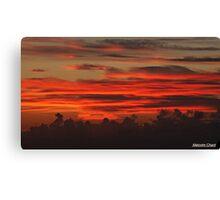 """ A Cornish Sunset"" Canvas Print"