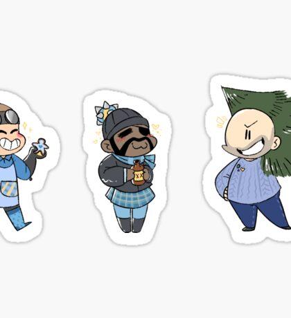 Blu Team Defense Class Sticker Sheet!! Sticker