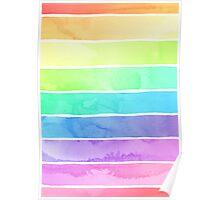 Summer Sorbet Rainbow Stripes Poster