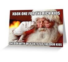 Funny Santa Xbox one meme Greeting Card