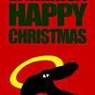 Raptor Jesus says Happy Christmas by jezkemp
