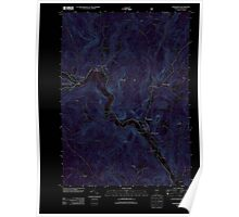USGS Topo Map  Vermont VT Townshend 20120709 TM Inverted Poster