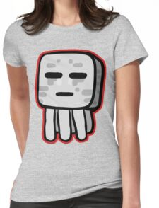 Minecraft Ghast drawing Womens Fitted T-Shirt