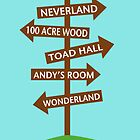 Direction Sign to Disney's Fictional Locales by Amy Harrison