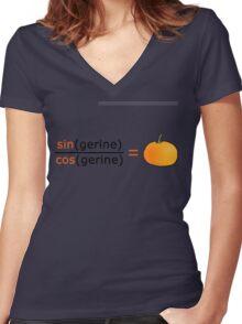 Tan(gerine) Women's Fitted V-Neck T-Shirt