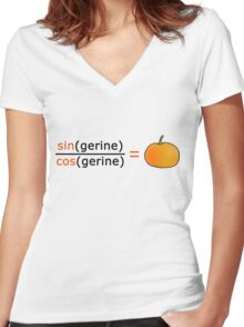 Tan(gerine) Women's Fitted V-Neck T-Shirt