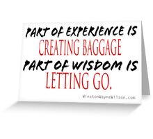 Baggage and Letting Go Greeting Card