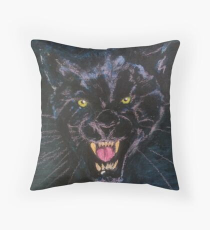 midnight hunter Throw Pillow