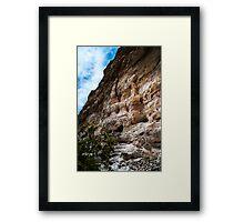 Cliffs by Montezuma Castle Framed Print