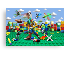 Woody vs the Little Guys Canvas Print