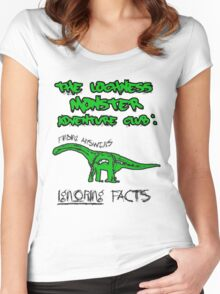 LOCH NESS monster. Women's Fitted Scoop T-Shirt