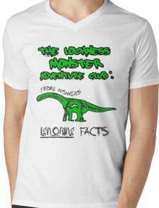 LOCH NESS monster. Mens V-Neck T-Shirt