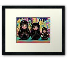 russian polka Framed Print