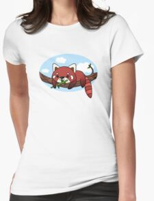 Red panda Womens Fitted T-Shirt
