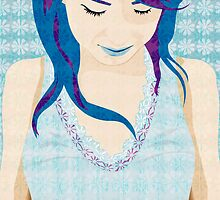 Asian Girl With Blue Hair by silvianeto