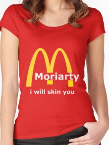 Moriarty - I will skin you - Light Women's Fitted Scoop T-Shirt