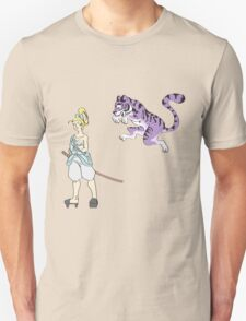 Alice and the Cheshire Tiger Unisex T-Shirt