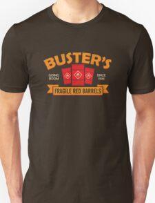 Buster's Fragile Red Barrels Unisex T-Shirt