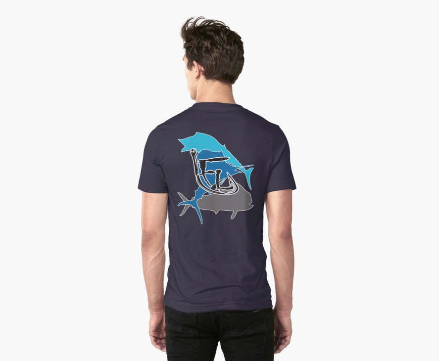 Offshore Fish Back T-Shirt by Fl  Fishing