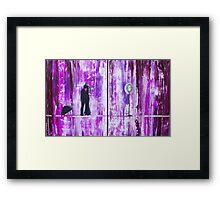 Purple Rain Romance Original Painting Framed Print