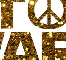 gold stop wars Sticker