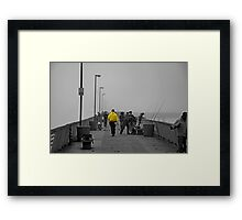 Pier Walker Framed Print