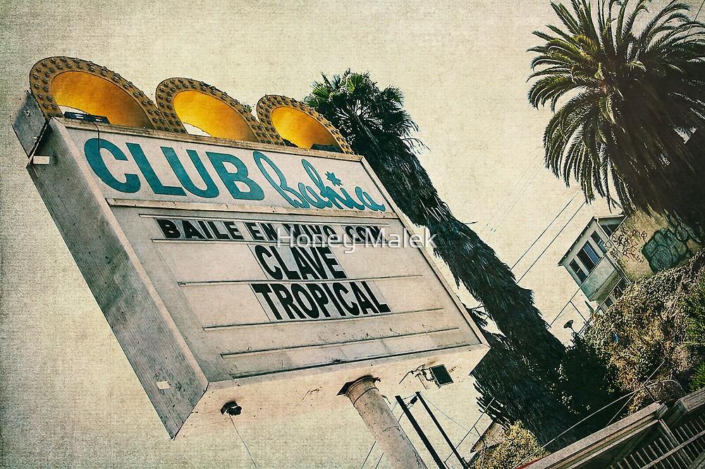 Club Bahia Latin Night Club Retro Sign by Honey Malek