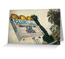 Club Bahia Latin Night Club Retro Sign Greeting Card