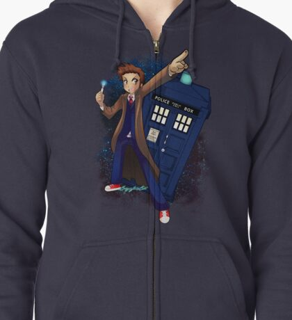 DOCTOR WHO Zipped Hoodie