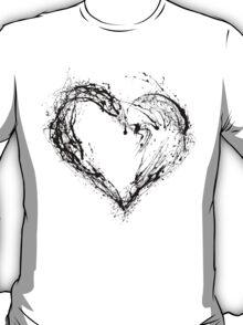 Abstract Black Heart  T-Shirt