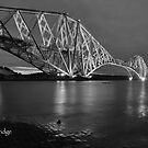 Forth Rail Bridge Scotland B/W  by Jim Wilson
