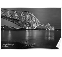 Forth Rail Bridge Scotland B/W  Poster
