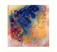 Soaring moving quickly Art Print