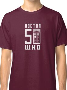 50 YEARS DOCTOR WHO //on dark colours// Classic T-Shirt