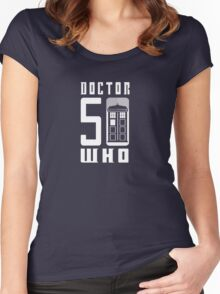50 YEARS DOCTOR WHO //on dark colours// Women's Fitted Scoop T-Shirt