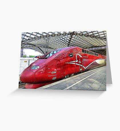 Thalys High Speed train. Greeting Card