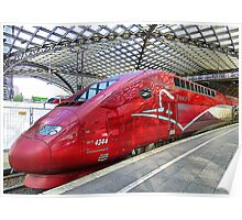Thalys High Speed train. Poster