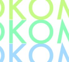 KOKOMO Comedy Logo T-Shirt Sticker