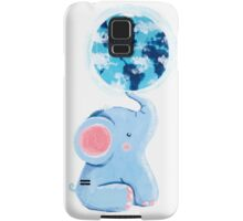 Good Luck Elephant - Rondy holding planet Earth Samsung Galaxy Case/Skin