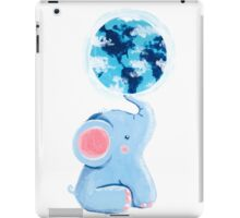 Good Luck Elephant - Rondy holding planet Earth iPad Case/Skin