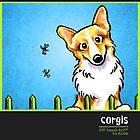 Corgi Calendar Cover by offleashart