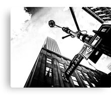 West 33rd St. Empire State Building Canvas Print