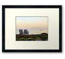 Misty Maine Morning Framed Print