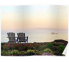Misty Maine Morning Poster