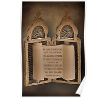 """*°•☸TORAH WITH BIBLICAL SCRIPTURE PICTURE/CARD""*°•☸ Poster"