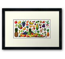 Fruits and Vegetables. Framed Print